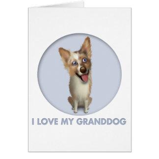 Australian Red Merle Shepherd Granddog Card