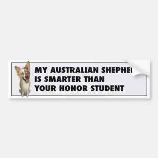 Australian Red Merle Shepherd Honor ARMS Bumper Sticker