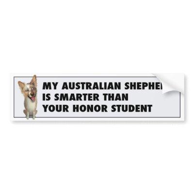 Australian Red Merle Shepherd Honor bumper stickers $ 7.10
