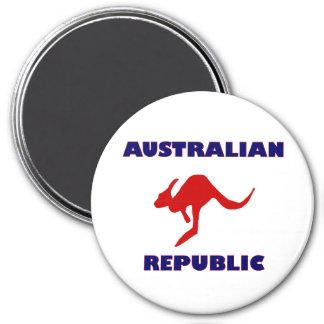 Australian Republic 3 Inch Round Magnet