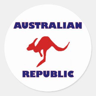 Australian Republic Classic Round Sticker