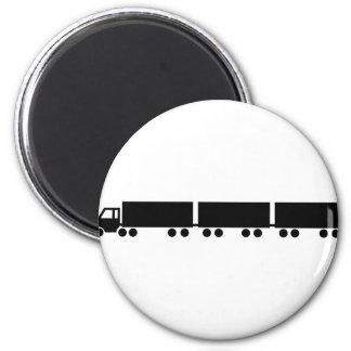 australian road train truck 2 inch round magnet