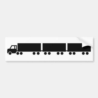 australian road train truck bumper sticker