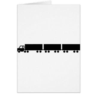 australian road train truck card