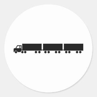 australian road train truck classic round sticker