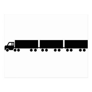 australian road train truck postcard