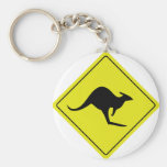 australian roadsign kangaroo australia key chain