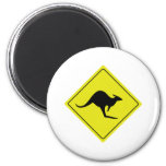 australian roadsign kangaroo australia magnet