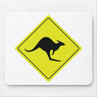 australian roadsign kangaroo australia mouse pad