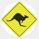 australian roadsign kangaroo australia round sticker