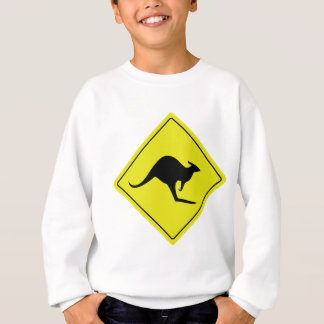 australian roadsign kangaroo australia sweatshirt