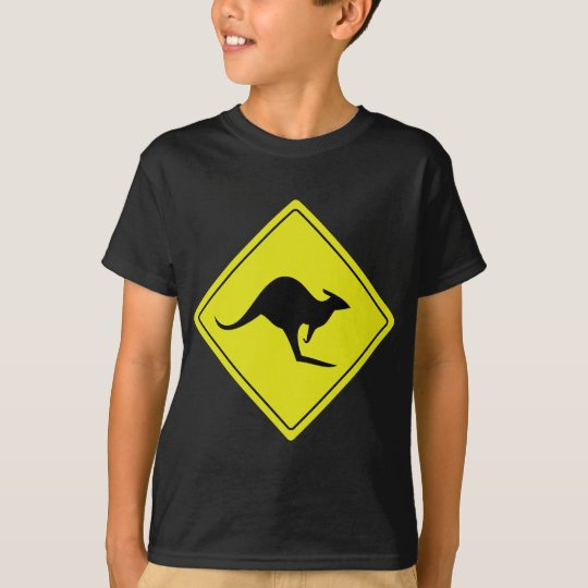 australian roadsign kangaroo australia T-Shirt