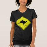 australian roadsign kangaroo australia tshirts