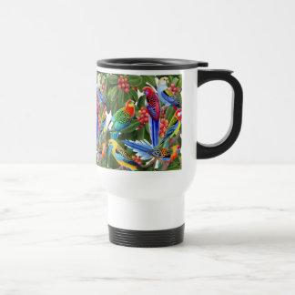 Australian Rosella Parrots Travel Mug