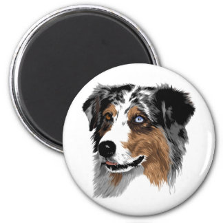 Australian Shepherd 2 Inch Round Magnet