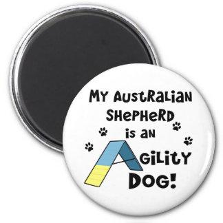 Australian Shepherd Agility Dog 2 Inch Round Magnet