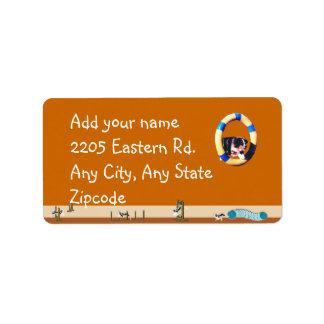 Australian Shepherd Agility Dog Address Label