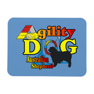 Australian Shepherd Agility Rectangular Photo Magnet