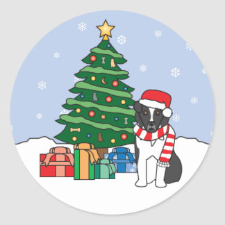 Australian Shepherd and Christmas Tree Sticker