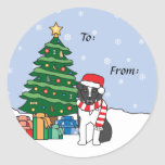 Australian Shepherd and Christmas Tree Stickers