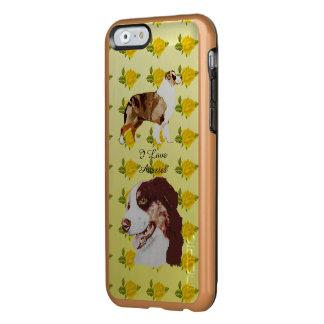 Australian Shepherd and Yellow Roses 6/6S Incipio Feather Shine iPhone 6 Case