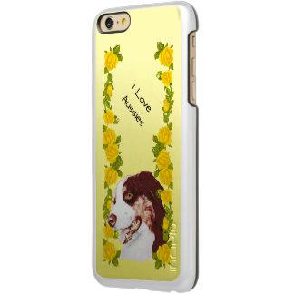 Australian Shepherd and Yellow Roses 6+ Incipio Feather Shine iPhone 6 Plus Case