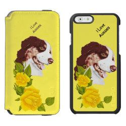 Incipio Watson™ iPhone 6 Wallet Case with Australian Shepherd Phone Cases design