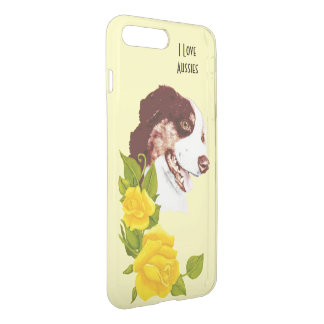 Australian Shepherd and Yellow Roses 7+ iPhone 7 Plus Case