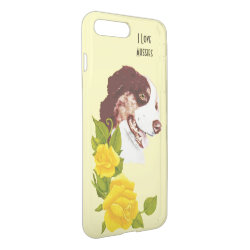 Uncommon iPhone 7 Plus Clearly™ Deflector Case with Australian Shepherd Phone Cases design