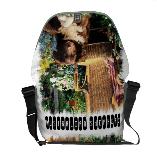 Australian Shepherd Art Messenger Bag