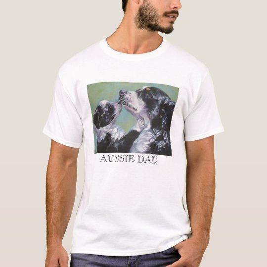 Australian Shepherd AUSSIE DAD t shirt