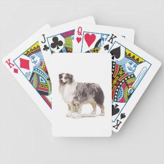 Australian Shepherd Bicycle Playing Cards