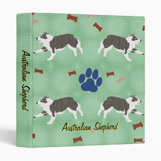 Australian Shepherd 3 Ring Binder