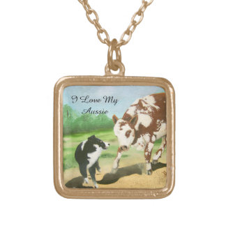 Australian Shepherd Black-tri Cowdog necklace
