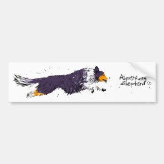 Australian Shepherd, black trichloroethylene Bumper Sticker