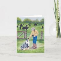 Australian Shepherd Blank Notecard