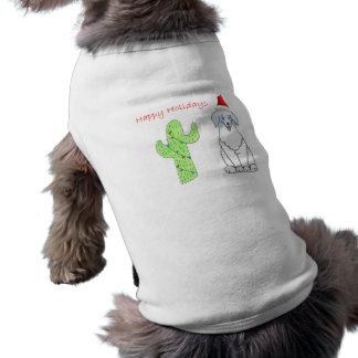 Australian Shepherd Blue Cactus Christmas T-Shirt
