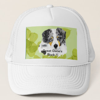 Australian Shepherd - Blue Merle Aussies Rock!! Trucker Hat