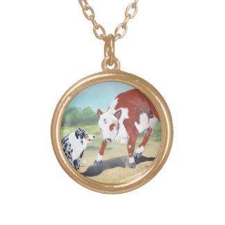 Australian Shepherd Blue Merle Cowdog necklace