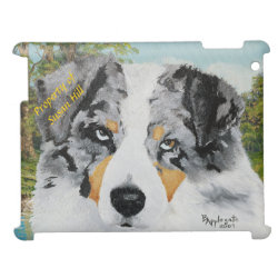 Case Savvy Glossy Finish iPad Case with Australian Shepherd Phone Cases design