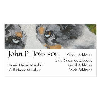 Australian Shepherd ~ Blue Merle Portrait Double-Sided Standard Business Cards (Pack Of 100)