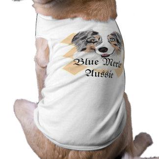 Australian Shepherd - Blue Merle Portrait T-Shirt
