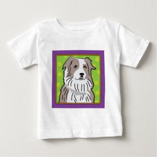 Australian Shepherd Cartoon Baby T-Shirt
