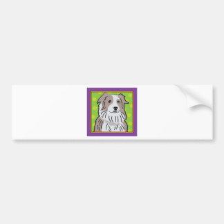 Australian Shepherd Cartoon Bumper Sticker