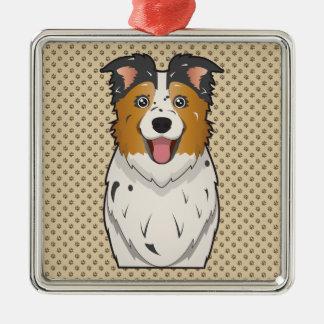 Australian Shepherd Cartoon Christmas Ornament