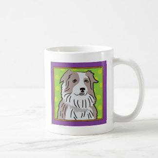 Australian Shepherd Cartoon Coffee Mug
