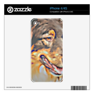Australian Shepherd Cartoon Decal For The iPhone 4S