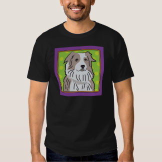 Australian Shepherd Cartoon Tee Shirt