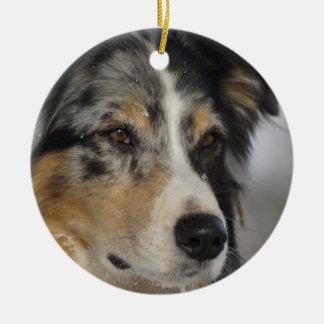 Australian Shepherd Ceramic Ornament
