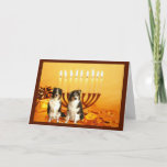 """Australian Shepherd Chanukah Card Menorah<br><div class=""""desc"""">Remembering family and friends during the Chanukah season is a wonderful way to keep in touch with the people you love and care about. I created these dog Chanukah cards with love and care and I am sure anyone who loves dogs will be delighted to receive them. You do have...</div>"""